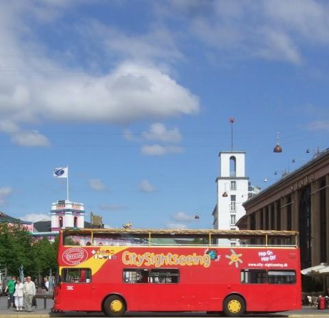 city sight seeing bus Copenhagen